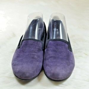 MUNRO Walking Wedge Purple Suede Loafers